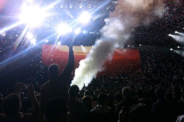 """Tal como lo dijo el artista británico, la del jueves en el Estadio Nacional fue una """"¡buena tafies!"""". Fotografía: Damián Arroyo."""