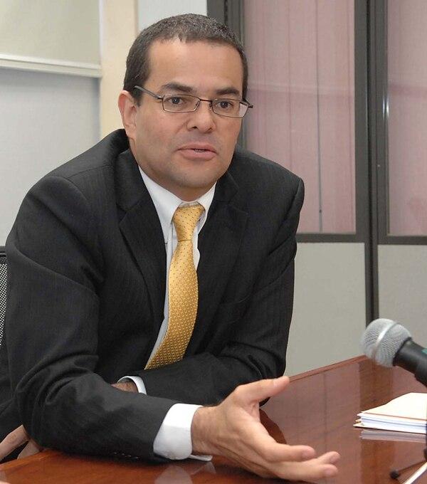 Édgar Robles, superintendente de Pensiones.