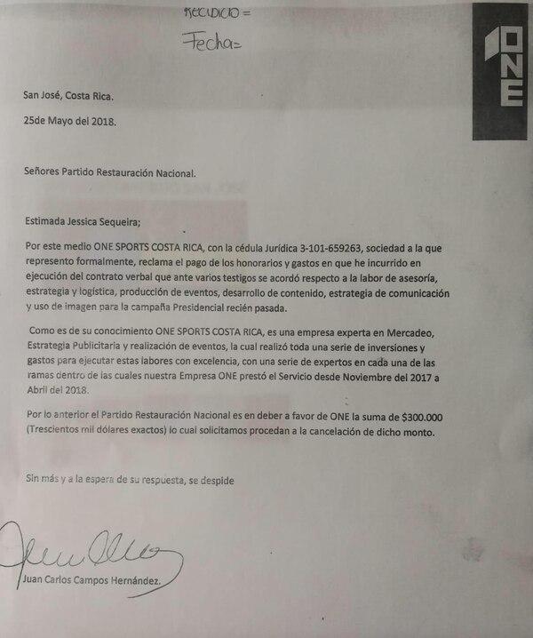 Juan Carlos Campos, el jefe de campaña de Fabricio Alvarado, le está cobrando al PRN $300.000 (¢174 millones) por los servicios de asesoría que ofreció en la campaña. Foto cortesía de Carlos Avendaño