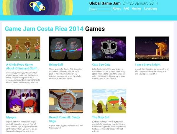 En el Game Jam Costa Rica 2014 se crearon estos siete videojuegos