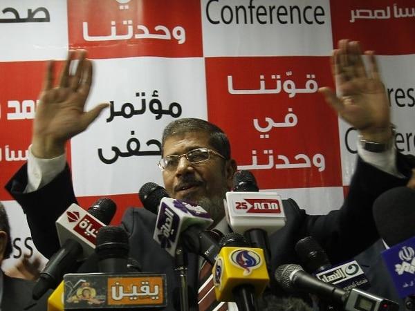 Mohamed Mursi llegó al poder tras la caída de Hosni Mubarak | ARCHIVO.