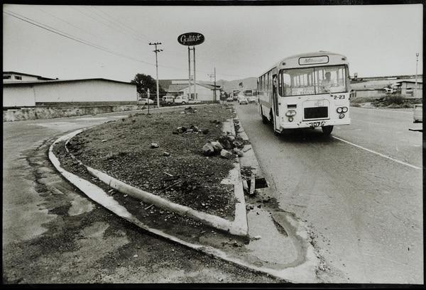 La rotonda de Guadalupe, conocida como La Gallito fue una de las primeras que se construyeron en Circunvalación. Se levantó entre 1978 y 1980.
