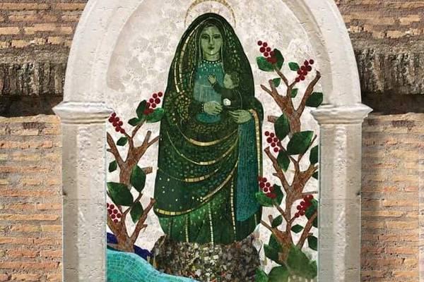 Mosaico de La Negrita en el Vaticano tiene oro, mármol y un trozo de la piedra del hallazgo