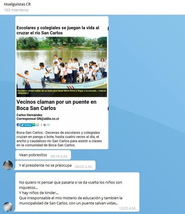 12/07/2019 Chat de huelguistas