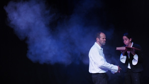 Adrián Arriaga y Andrea Catania estrenaron Entre Quijotes en el Teatro Espressivo. Ahora ofrecen dos funciones en el Teatro Popular Melico Salazar.