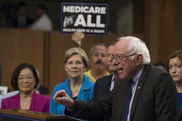El senador independiente Bernie Sanders se refirió este miércoles 13 de setiembre del 2014, en Washington, a su plan para dar acceso a todos los estadounidenses a la salud pública.