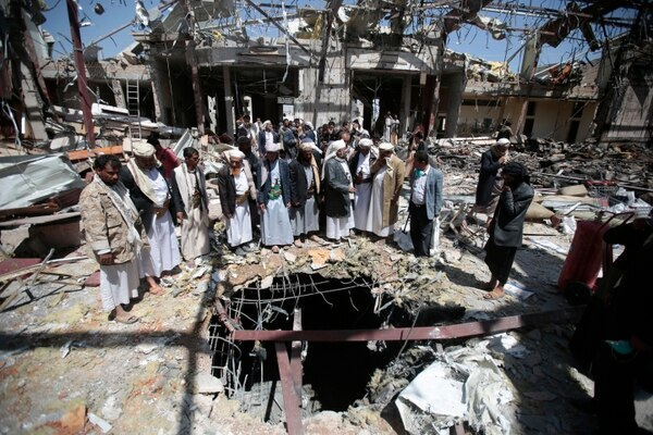 Un equipo encargado de investigar el bombadero acaecido en un funeral en Yemen determinó que este fue resultado de fue el resultado de