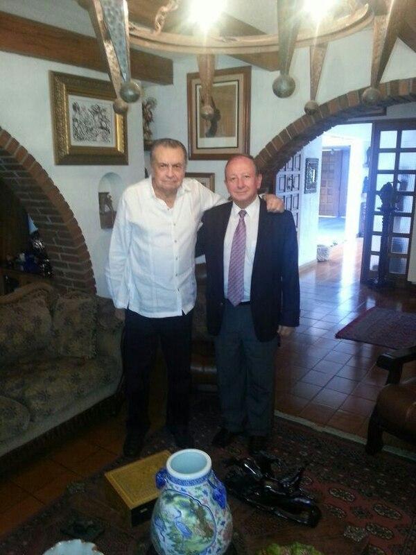 El candidato presidencial del PUSC, Rodolfo Hernández, recibió el apoyo del expresidente Abel Pacheco, quien se mantiene alejado del PUSC.