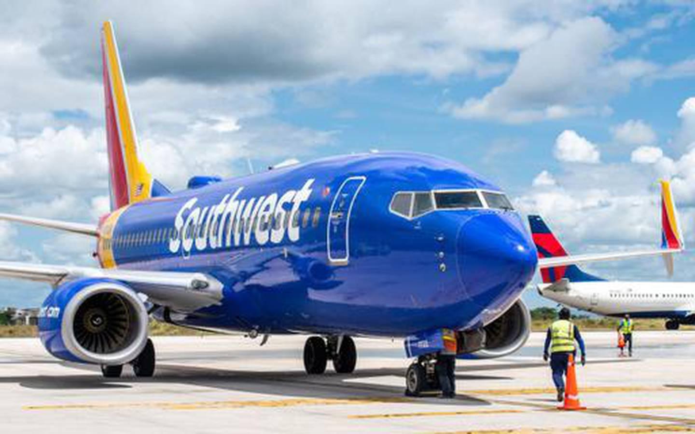 El vuelo WN 691, proveniente de Houston, aterrizó a la 12:51 p.m., de domingo 6 de junio, con 145 pasajeros a bordo. Cortesía ICT.