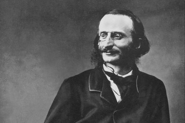 Photography of Jacques Offenbach by Félix Nadar/Wikimedia commons