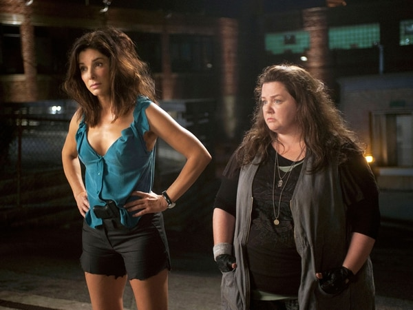 Distintas entre sí. Con Sandra Bullock y Melissa McCarthy tenemos, entre comedia y policial, la versión femenina de lo que hicieron cómicos en pareja como Dean Martin y Jerry Lewis. DISCINE PARA LA NACIÓN.
