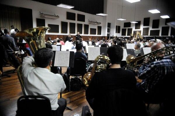 La Orquesta Sinfónica Nacional ensayó junto al Coro Sinfónico Nacional durante esta semana. FOTO: Rafael Murillo.