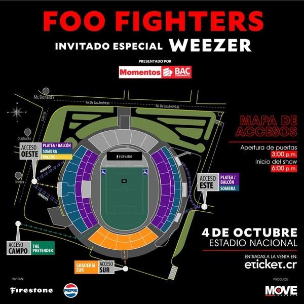 Napa localidades Foo Fighters