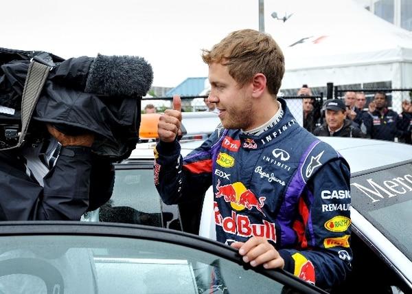 Sebastian Vettel ganó el domingo el Gran Premio de Canadá. / AFP