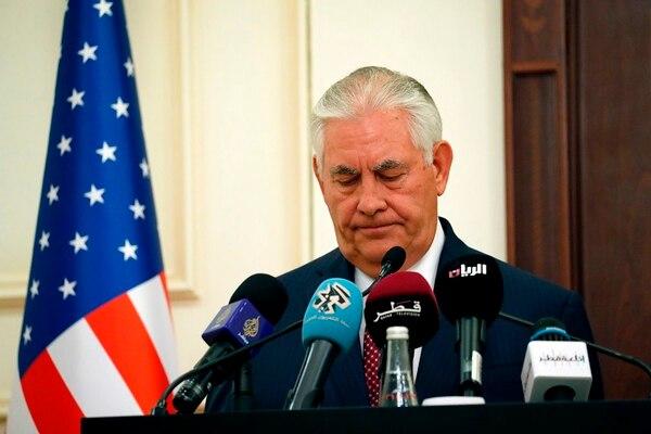 Rex Tillerson indicó que no hay intenciones de diálogo entre Catar y Arabia Saudí
