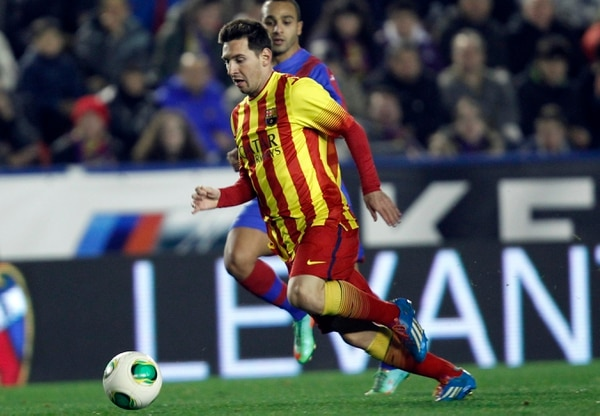 Lionel Messi jugó su partido 400 con el Barcelona.