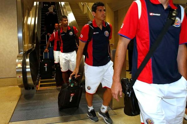 La llegada de la selección de Costa Rica a Los Ángeles