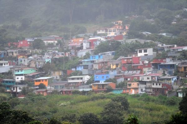 Como San Vicente de La Unión está ubicado en una montaña eso le permite a sus pobladores tener una vista panorámica de todo lo que ocurre abajo. Foto de Diana Méndez