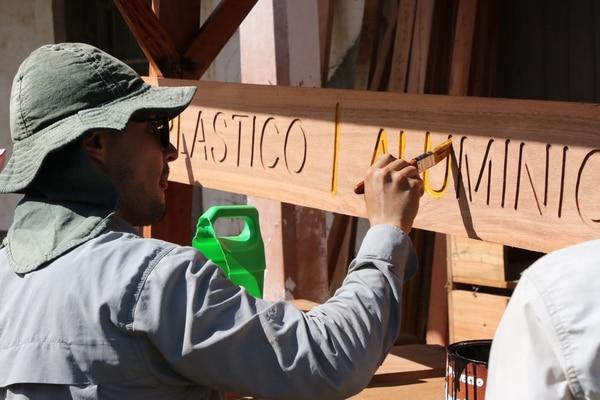 40 nuevos módulos de reciclaje fueron instalados en distintas partes del parque La Sabana, como parte del proyecto de rearborización que se realiza en el pulmón verde de la capital. Foto: Icoder / Scotiabank
