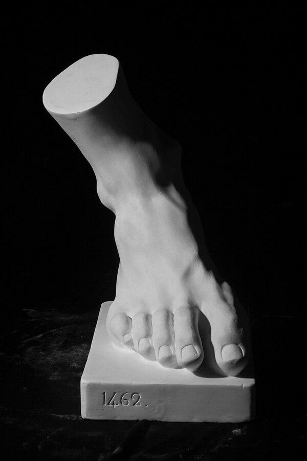 Pie del padre en el grupo escultórico de Laocoonte, de Agesandro, Polidoro y Atenodoro de Rodas, siglo I d. C.