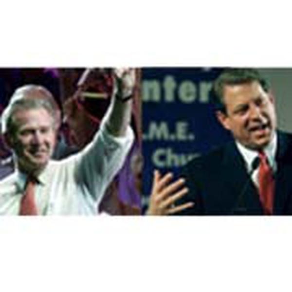 Al Gore (derecha) ganó el voto popular pero perdió el voto del Colegio Electoral después de una amarga batalla por el conteo de papeletas en el estado de Florida. Así fue reelecto George W Bush en el 2000. Foto: Archivo