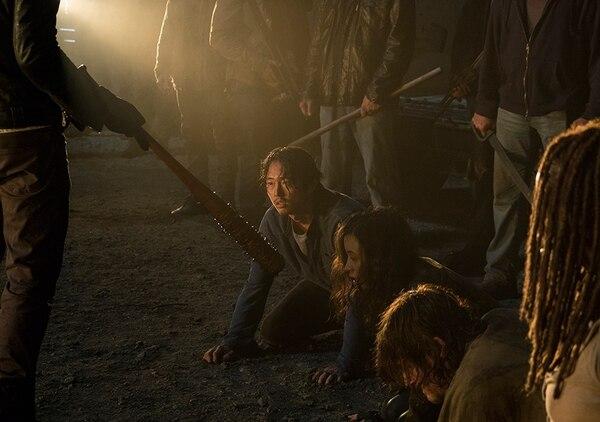 Glenn Rhee (Steven Yeun) en los momentos previos a dejar la serie.