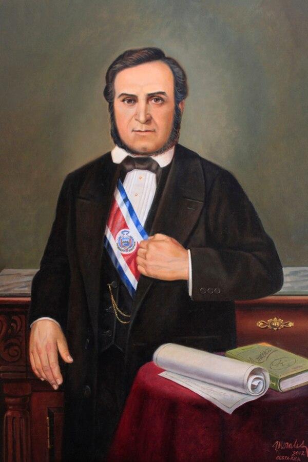 Retrato del presidente Mora en la Galería de Patriotas Latinoamericanos, ubicada en Buenos Aires, Argentina.