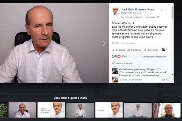 El precandidato José María Figueres y el expresidente Óscar Arias, utilizan medios electrónicos que les permiten evadir las consultas de la prensa cuando quieren emitir sus mensajes. | FOTOGRAFÍA / LN