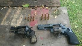 Fuerza Pública decomisa ocho armas de fuego en San José