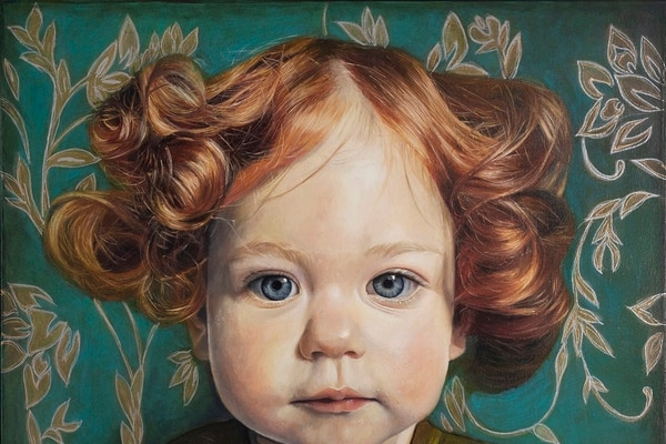 """Sofía Ruiz Ugalde, """"Contemplación"""", de la serie """"Black Forest"""", 2017, óleo y tinta sobre lienzo, colección de la artista. Fotografía: Gabriel González."""