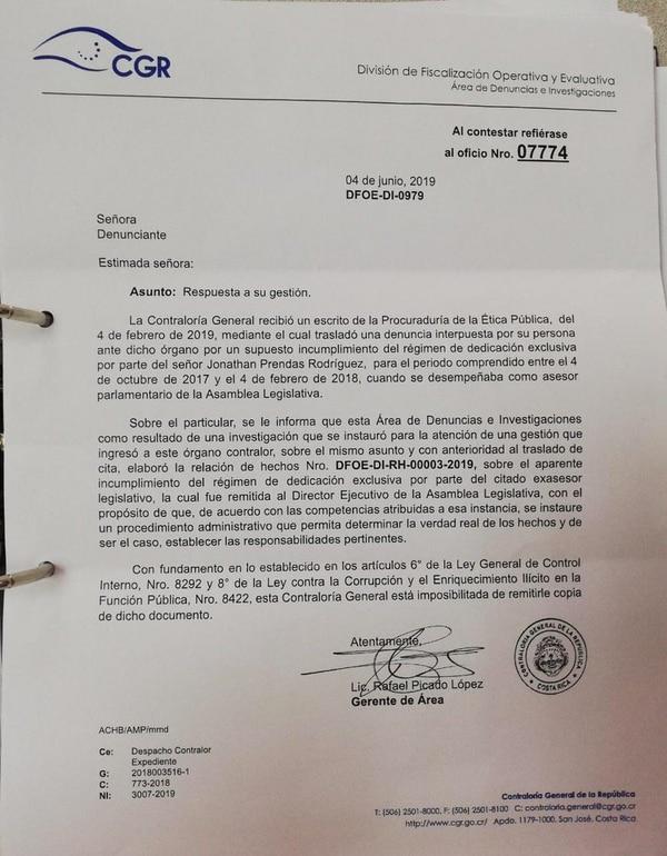 Carta CGR