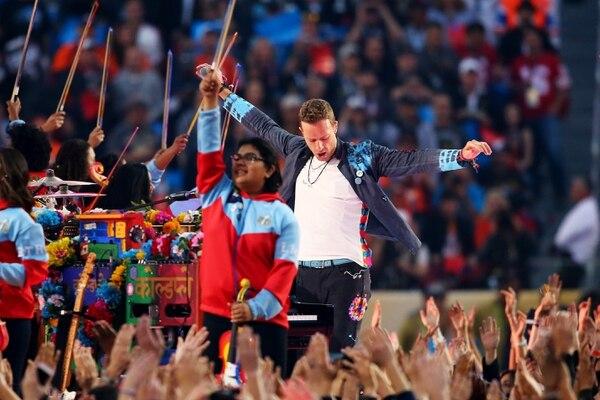 Chris Martin, vocalista de Coldplay, se sinceró en una entrevista personal y profesional que dio a la revista 'Rolling Stone'. Fotografía: Maddie Meyer/Getty Images/AFP/Archivo.