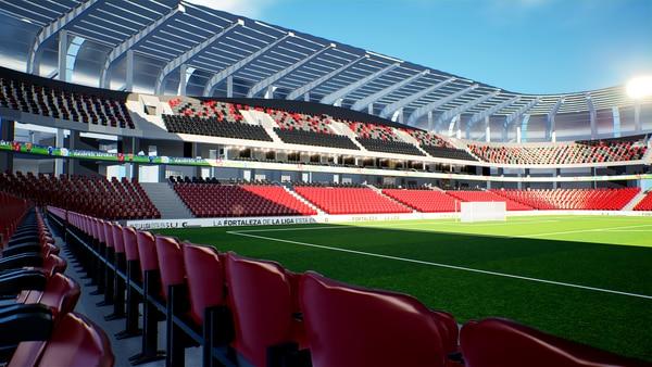 Así lucirá el nuevo estadio de la Liga Deportiva Alajuelense. Prensa LDA.