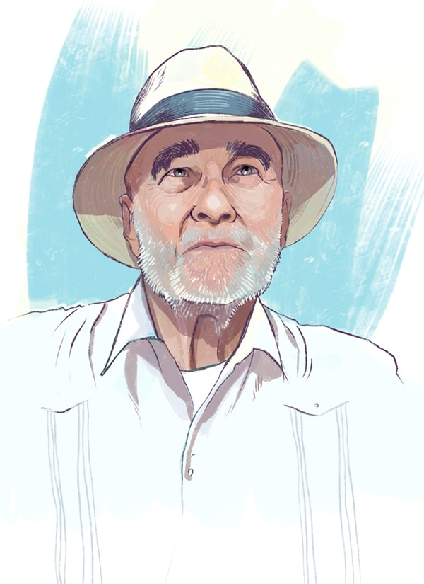 Arriba: Retrato de Andrés Sáenz Lara ejecutado por el artista Daniel Mora. Debajo: Portada del reciente libro del crítico, publicado por la Editorial de la UNED.