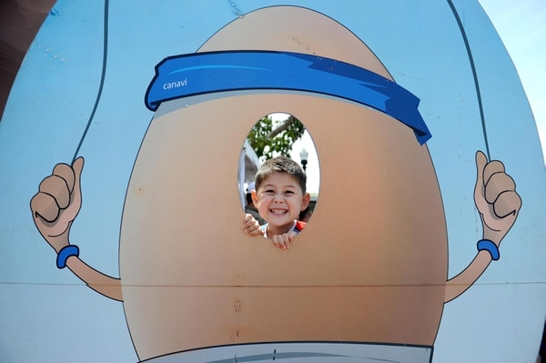 Ariel Segura, de 3 años, difrutó a lo grande en el parque Juan Santamaría.