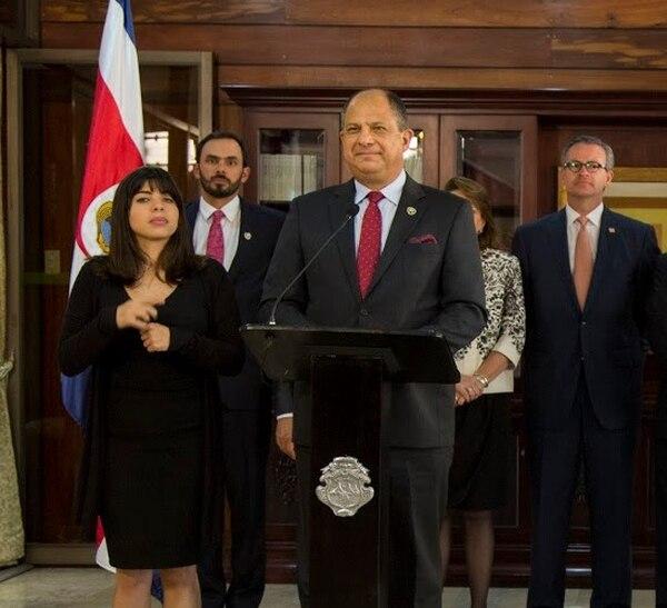 El presidente Luis Guillermo Solís negó que existan tensiones entre su Gobierno y el de Estados Unidos, tal como aseguró el embajador esa nación, Stafford Fitzgerald Haney.