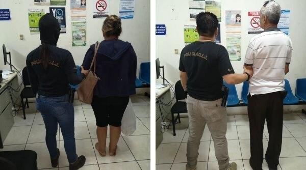 La mujer de 52 años y el adulto mayor, de 68, quedaron a la orden de la Fiscalía, acusados de proxenetismo. Foto: OIJ.